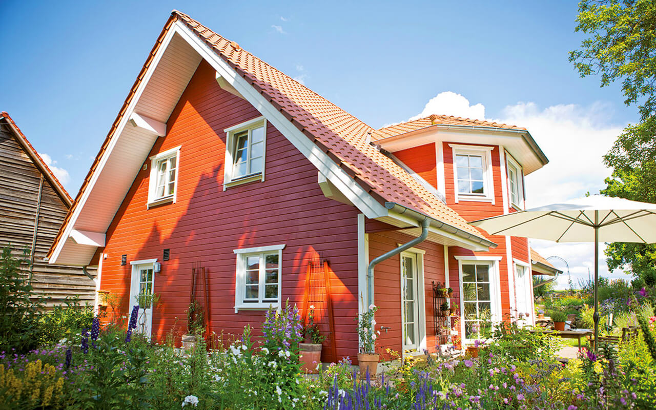 Foto eines Talis Holzhaus
